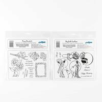 Creative Expressions 2 x Unmount Stamp Sets - Posy Florals & Styl-407040
