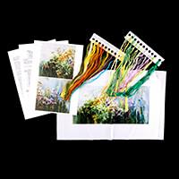 Gamma Wild Flowers Ribbon Embroidery Kit - 32 x 16cm-407371