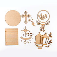 Oliftantjie Christmas Memories MDF Set - Set of 4-409911
