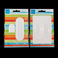 Marianne Design Craftables 2 x Die Sets - Scalloped Edge Rectangl-411463
