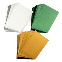 Crafter's Companion A4 Luxury Cardstock - Gold, Green and Silver -411510