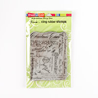 Stampendous Christmas Background Cling Stamp-412084