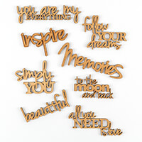 SnipArt 8 x MDF Words-412832