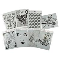 Imagination Crafts 8 x A4 Art Stencils - Decorative Collection-413361