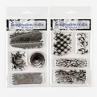 Imagination Crafts 2 x Art Stamps - Natural Textures Set 1 and 2-413601