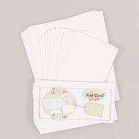 Which Craft? 6 x DL Tent Cards with Aperture, 6 Oval Aperture Fra-414020