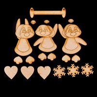 Karacter Krafts Set of 3 Tumbling Penquins - 1 Hanger, 3 Penguins-414372