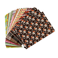 100 A4 Sheets Printed Backing Card - 20 Designs, 5 Sheets of Each-414595