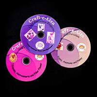 Craft-e-Liza Set of 3 Cold Porcelain DVD's - Poppy, Freesia & Cab-414879