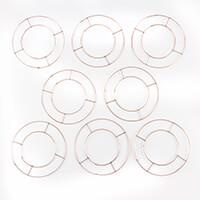 """Simply Vintage Pack of 8 Wreath Rings - 8""""-416968"""