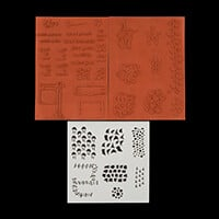 Polly Allsorts Stamp and Stencil Set-417568