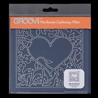 Groovi Plate A5 Square - Bird Heart Sprig-417762