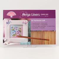 Pergamano Perga Liners Combi Box - 20 Aquarelle Pencils & 16 Basi-418768