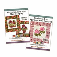 Quilter's Trading Post Geranium & Rhododendron Applique Wall Hang-419521
