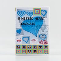 Crafty UK 5 Nested Hearts Template-419898