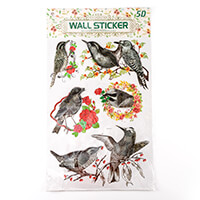 5 Packs of 5D Decorative Wall Stickers - Birds of the World-420692