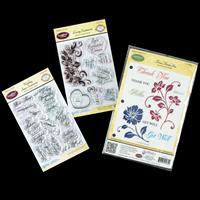 JustRite® 3 x Stamp Sets - Floral Thank You, Wedding & Loving Sen-423366