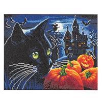 Craft Buddy 40x50cm Crystal Art Kit - Halloween Night-423840