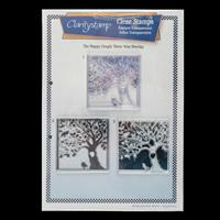 Claritystamp 3 Way Overlay The Happy Couple A4 Stamp Set - 3 Stam-424479