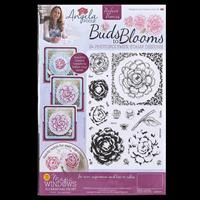Angela Poole Buds to Blooms Perfect Peonies A4 Stamp Set - 24 Sta-424931