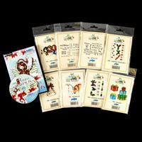 Creative Expressions 8 x Stamps & 1 x CD-Rom - Tatty Buttons Coll-425732