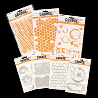 StudioLight 4 Grunge Die Sets and 3 Grunge Stencils-426998