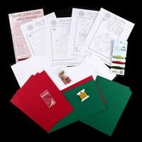 Add Some Sparkle Festive Christmas Paper Embroidery Kit - Makes 8-429790