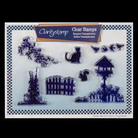 Claritystamp Birdhouse Garden A5 Stamp Set - 7 Stamps-431035