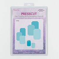 Press Cut Notched Rectangle Die Set - 16 Dies-431661