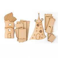 Polly Allsorts MDF Whimsical Houses - Large-432243