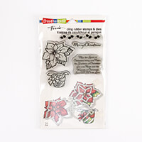 Stampendous Wrapped Poinsettia Stamp and Die Set - 5 Stamps and 4-433468