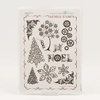 Chocolate Baroque Steampunk Christmas A4 Stamp Set - 11 Images-434562