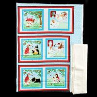 Juberry Fabrics Daddy & Me Cloth Book Kit with Wadding-436866