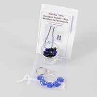 Aldridge Crafts Hexagon Bead Necklace & Earring Kit-437450