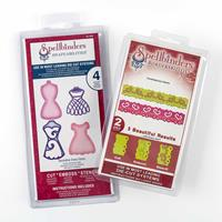 Spellbinders 2 x Die Sets - Contemporary Hearts - Decorative Dres-437751