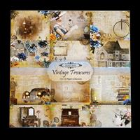 Vintage Treasures by The Craft Box 10 x Double Side Paper Pad 12x-438456