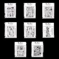 Crafty Individuals 8 Cling Mounted Stamps - Vintage Travels-438685