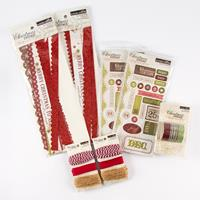Christmas Cottage Embellishment Collection - Tape, Chipboard, Rib-439445