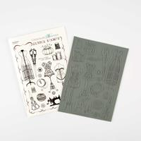 Chocolate Baroque A5 Sewing Stamp Sheets-444188