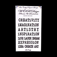 Bee Crafty Stamps - Small Creativity Words - 11 Stamps-444324