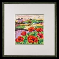Heritage Poppy Landscape Cross Stitch Kit-447072