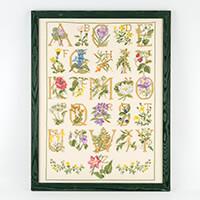 Permin Floral Alphabet Cross Stitch Kit - 40 x 54cm-448527