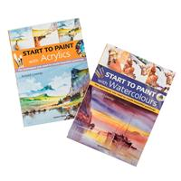 Search Press Set of 2 Start to Paint Books - Acrylics & Watercolo-448772