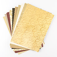Creative Films Mixed Card & Adhesive Film Collection - Gold Flora-449287