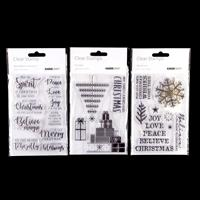 Kaisercraft 3 x Christmas Stamp Sets - 23 Stamps-449359