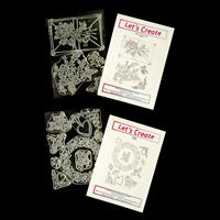 Let's Create 2 x Clear Stamp Sets - Rosetta & Sealed with a Lovin-455240