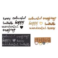 I Love Mixed Media Acrylic & Plywood Word Set With Cabochons-455669