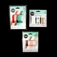 Sizzix® Accessory 3 x Glitters, 5 x Ribbons and 5 x Washi Tapes-456824