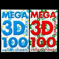 Luv Crafts Mega 2 x 3D Decoupage Books - 100 Sheets Each-457333