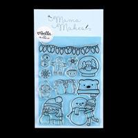Mama Makes Winter Bella Stamp Set - 12 Stamps-458793